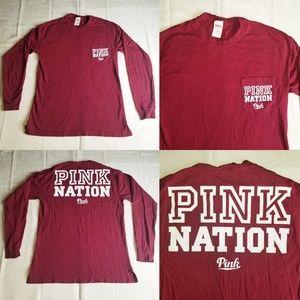 Pink Nation Victoria's Secret Love Longsleeve XS